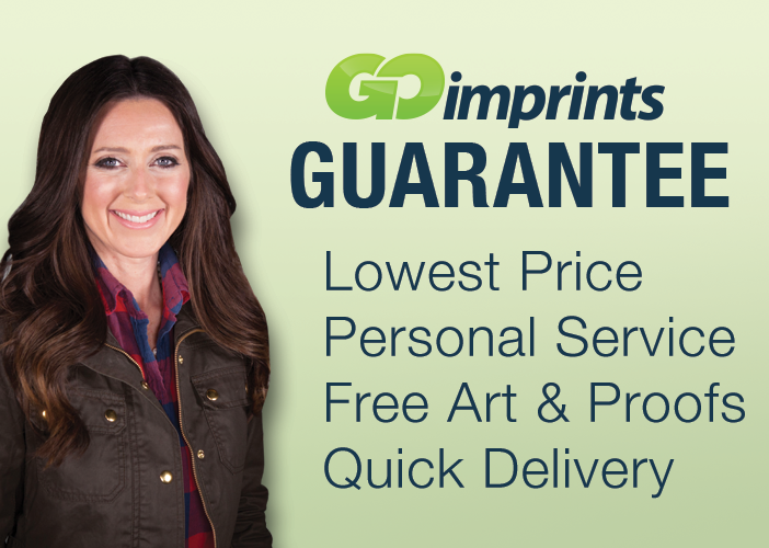 GOimprints Guarantee -  Lowest Price. Personal Service. Free Art & Proofs. Quick Delivery.