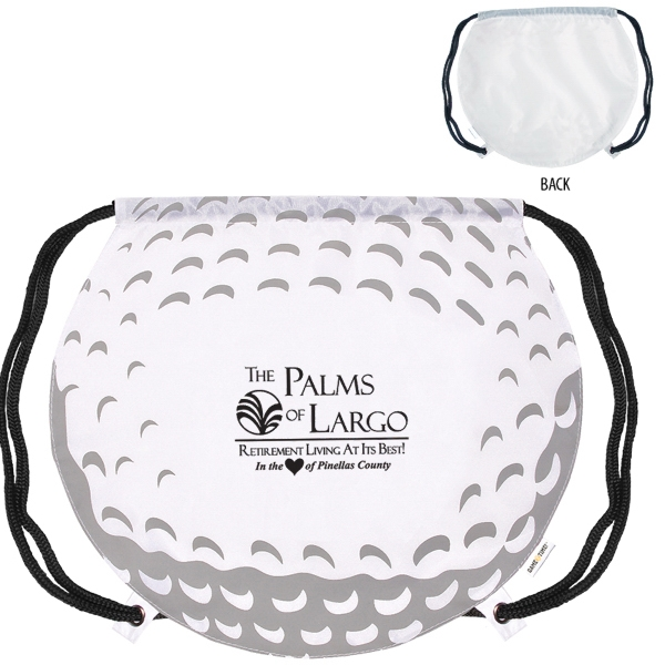 GameTime! (R) Golf Ball Drawstring Backpack