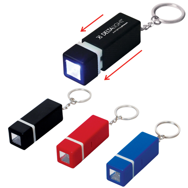 Economy Square LED Key Chain