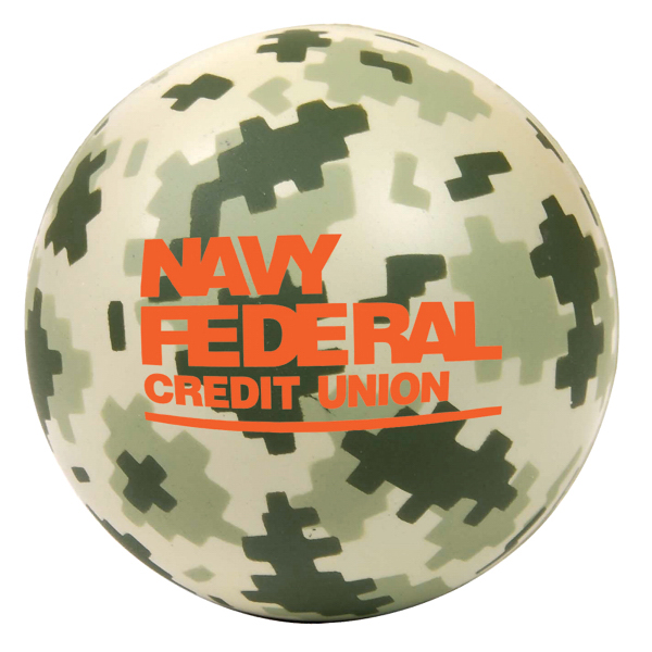 Digital Camo Round Stress Reliever