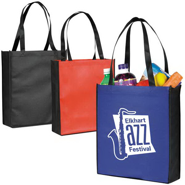 Two Tone Non-woven Tote with Gusset