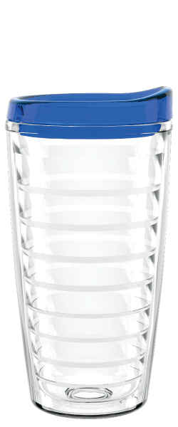 16 Oz Quot Shelby Quot Clear Double Wall Tumbler With Lid And
