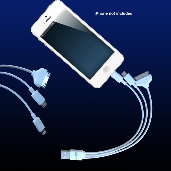 3 in 1 Cable USB For Galaxy Tab, iPhone 5 and smart phones