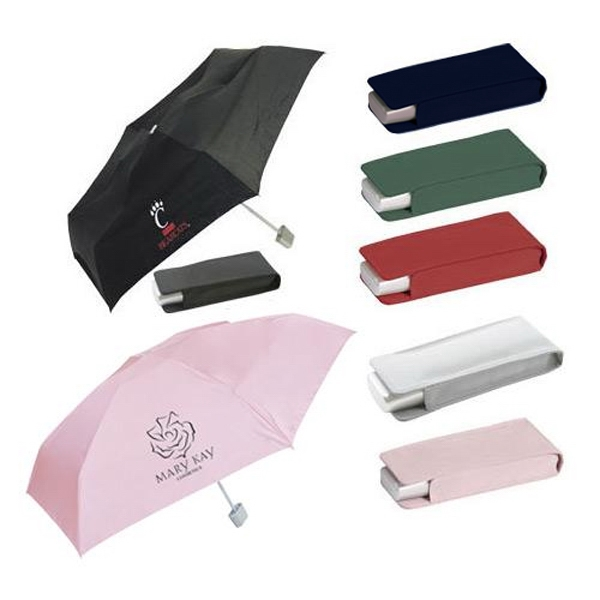 Pocket umbrella with matching case