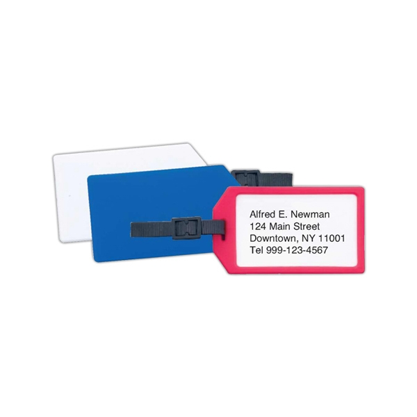 Plastic business card luggage tag goimprints plastic business card luggage tag colourmoves