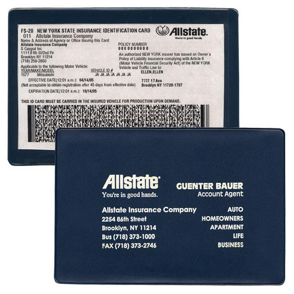 insurance card holder request a sample
