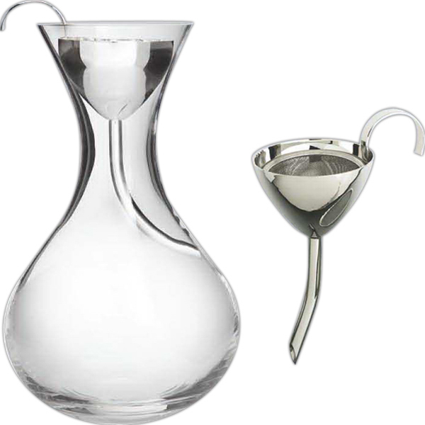 Classic Wine Funnel Silver Plated With Screen Goimprints