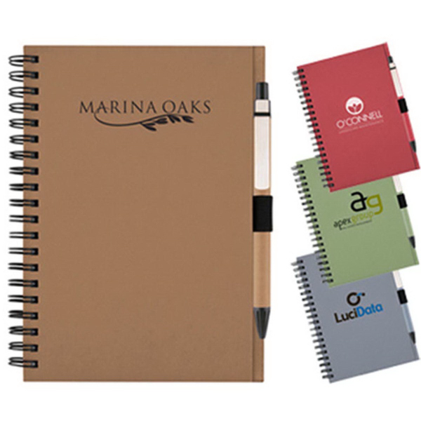 60 Pages Eco Friendly Spiral Notebook with Pen