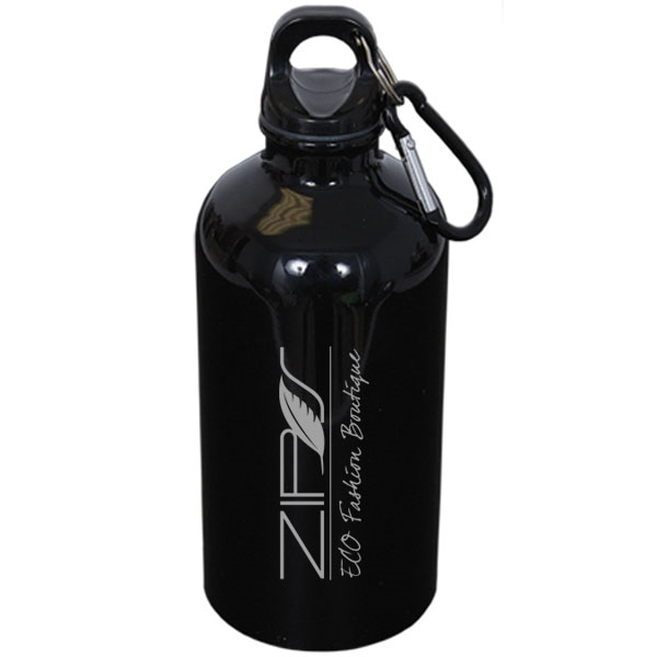 500 ml (16 oz) Stainless Steel Water Bottle with Carabiner
