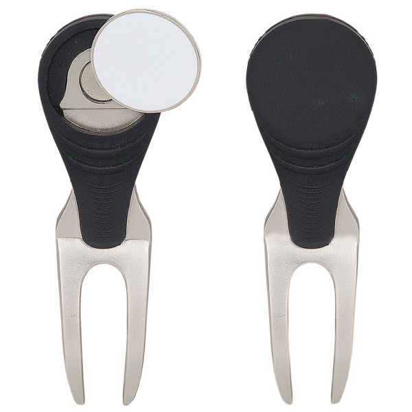 Divot Repair Tool With Magnetic Ball Marker