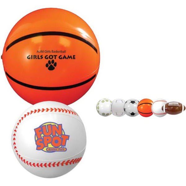 "9"" Sport Beach Ball-Basketball"