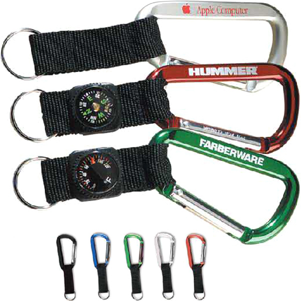 80 mm Carabiner with compass strap & keyring