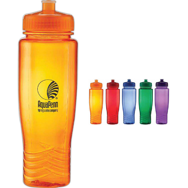 28 oz Translucent Water Bottle with Sports Cap