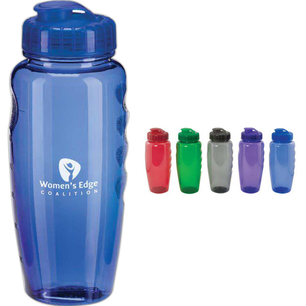 30 oz Translucent Water Bottle with Super Sipper Lid