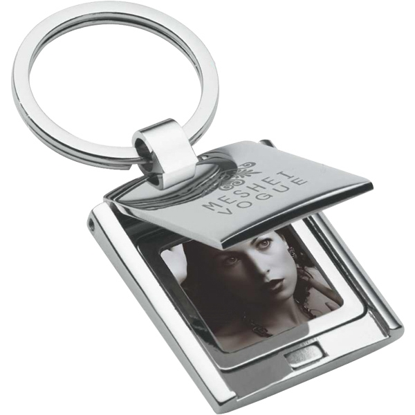 Chrome Finish Keyring