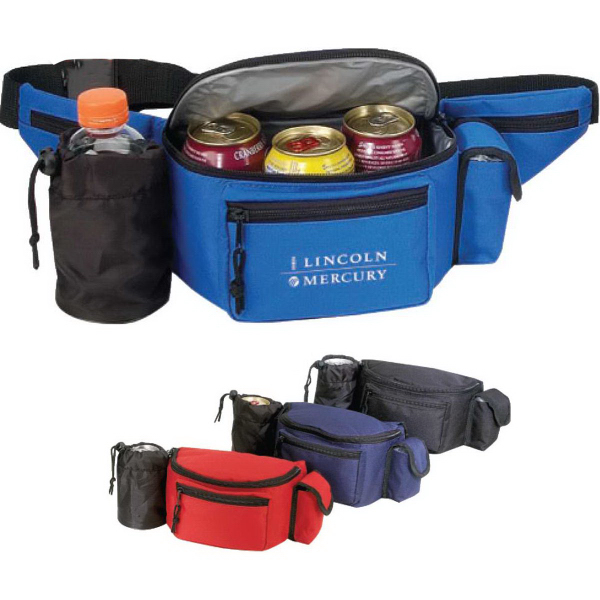 Cooler Fanny Pack w/Bottle Holder & Cell Phone Pouch