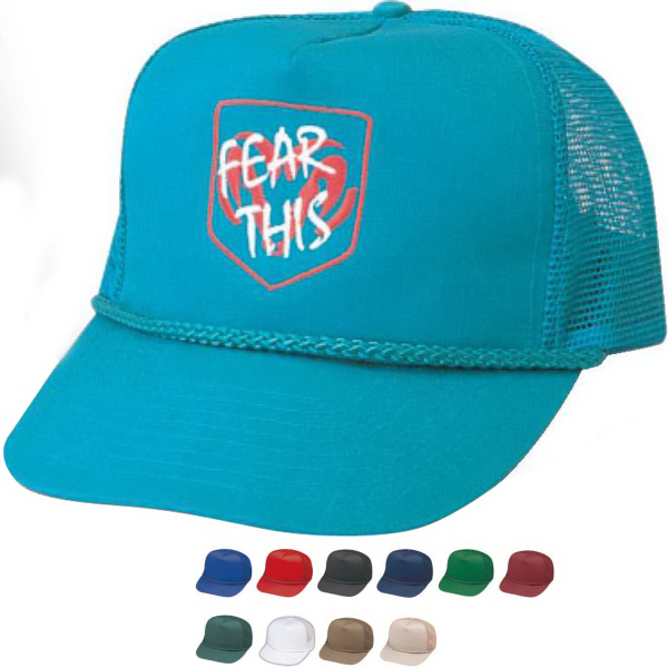 Pro Style Constructed 5 Panel Twill Mesh Cap