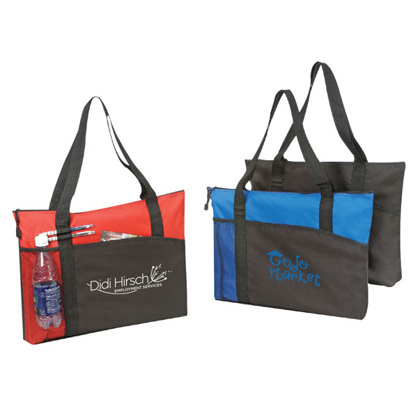 600 Denier Polyester Tote Bag With Zipper