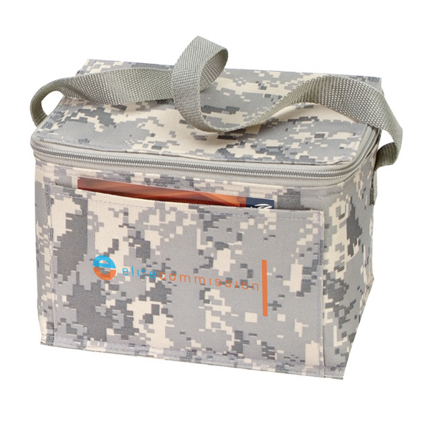 600D Polyester 6-Pack Cooler with Digital Camouflage Print