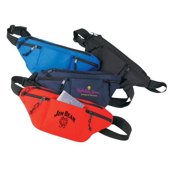 Fanny Pack With 4 Zipper Pockets