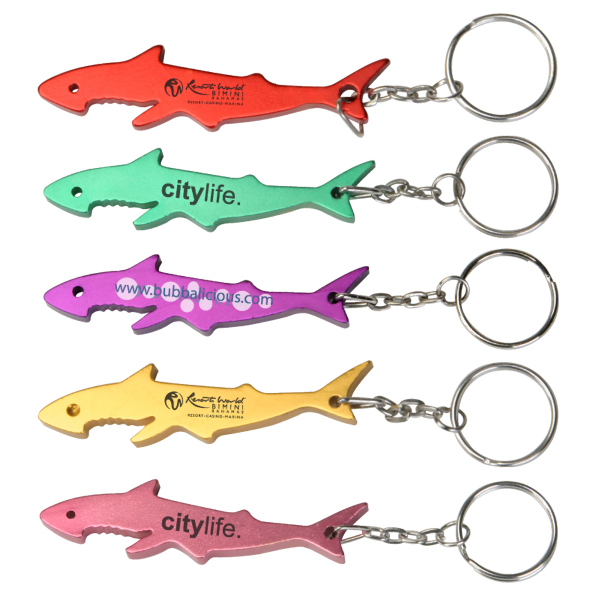 Shark Shaped Bottle Opener Keyring