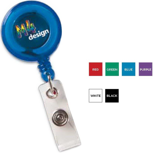 Round Secure-A-Badge (TM) with Alligator Clip