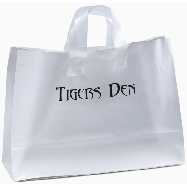 Daisy Frosted Shopper Plastic Bag