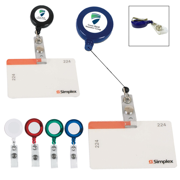 Retractable Badge Holder With Laminated Label - GOimprints