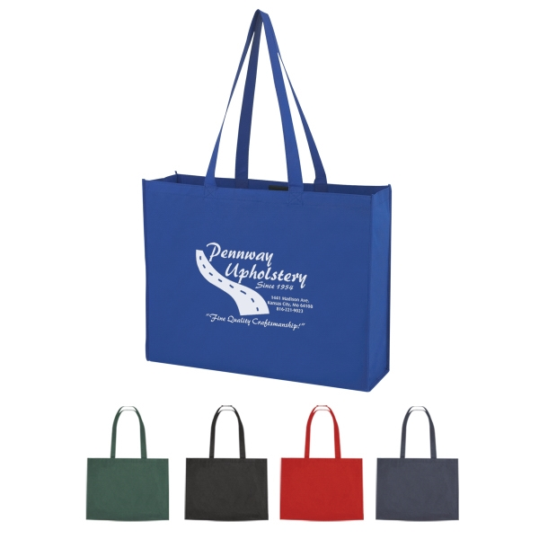 Non-Woven Shopper Tote with Velcro (R) Closure