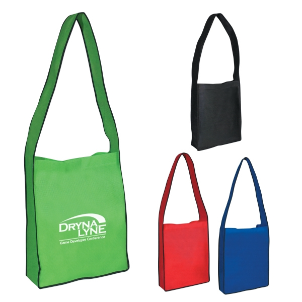 Non-Woven Messenger Tote With Velcro (R) Closure