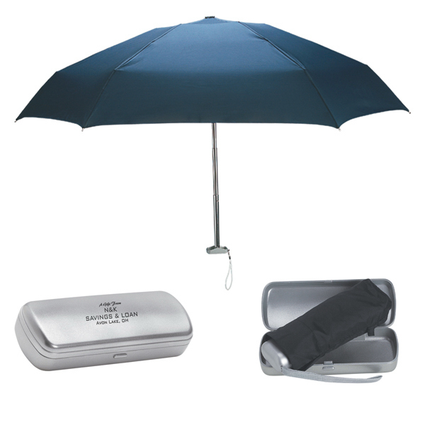 "Discount 38"" Arc Folding Umbrella With Contemporary Design Case"