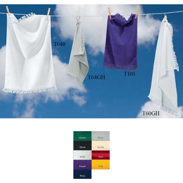 Towels Plus (R) by Anvil Hand Towel with Grommet and Hook