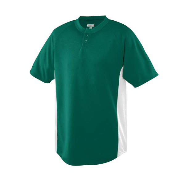 Wicking Color Block Two-Button Youth Jersey
