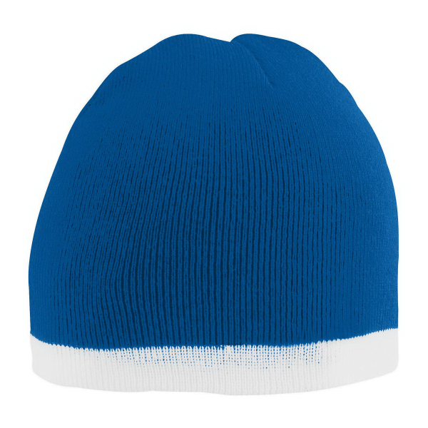 Two-Tone Knit Beanie