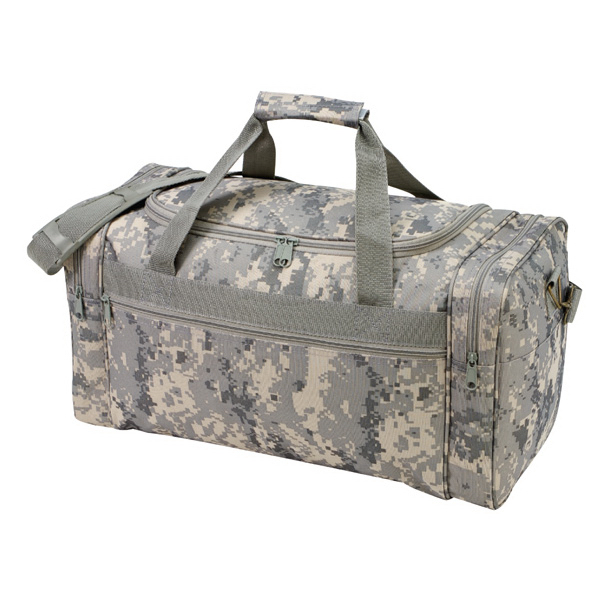 600D Polyester Duffel Bag with Digital Camouflage Print