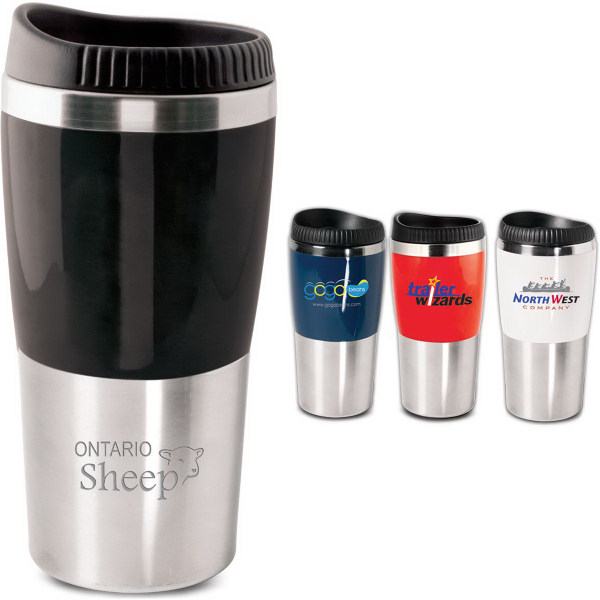 The Style 16 Oz Mug With Designer Safety Lid