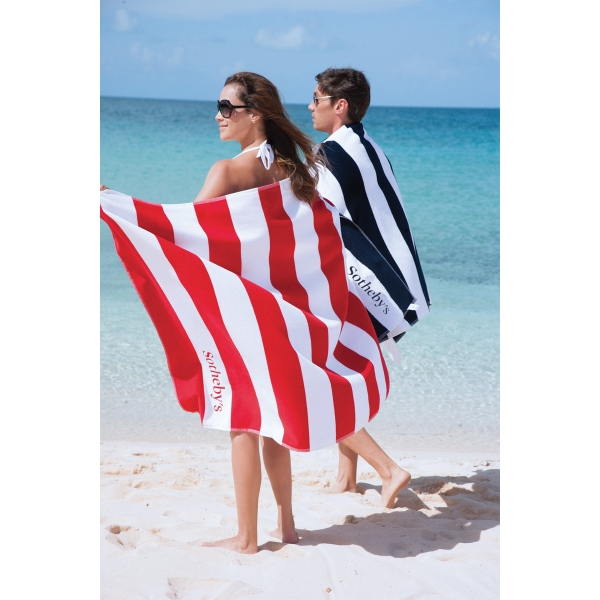Turkish Signature (TM) Horizontal Cabana Stripe Beach Towel