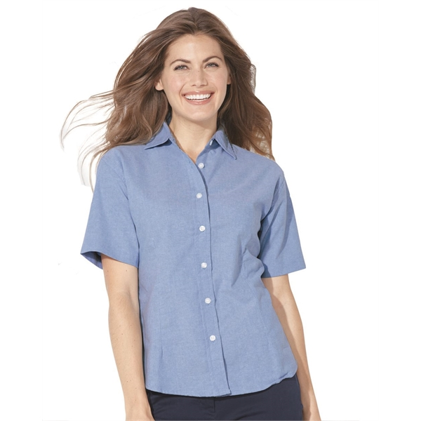 acccb64aa FeatherLite (R) Ladies' Short Sleeve Oxford Shirt - GOimprints