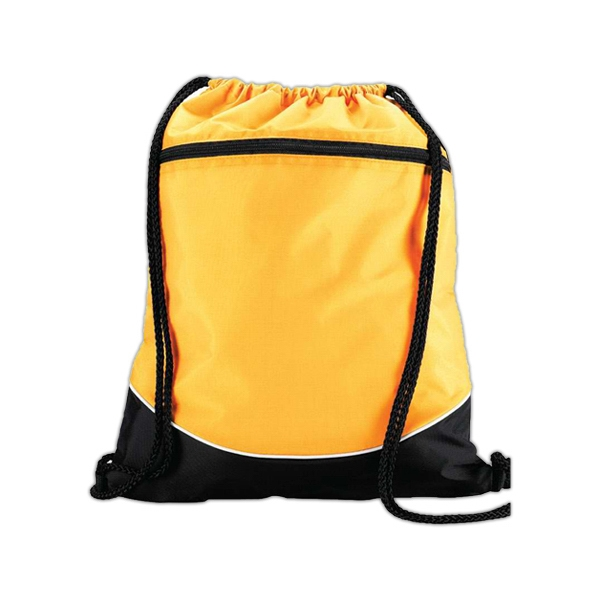 Tri color drawstring backpack
