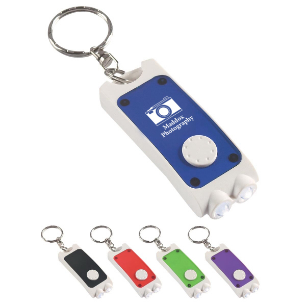 Rectangular Dual LED Key Chain
