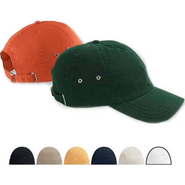 Six Panel Twill Cap with Metal Eyelets