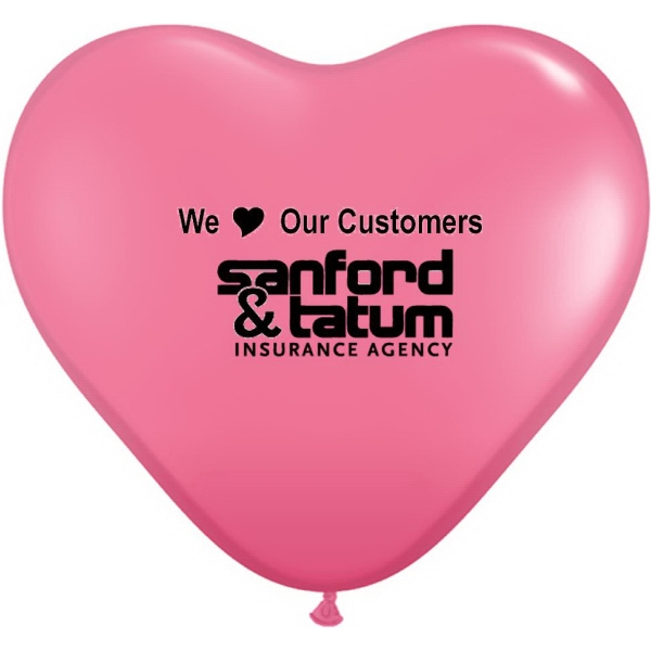 "15"" Heart Latex Balloons- Jewel/Fashion Colors"