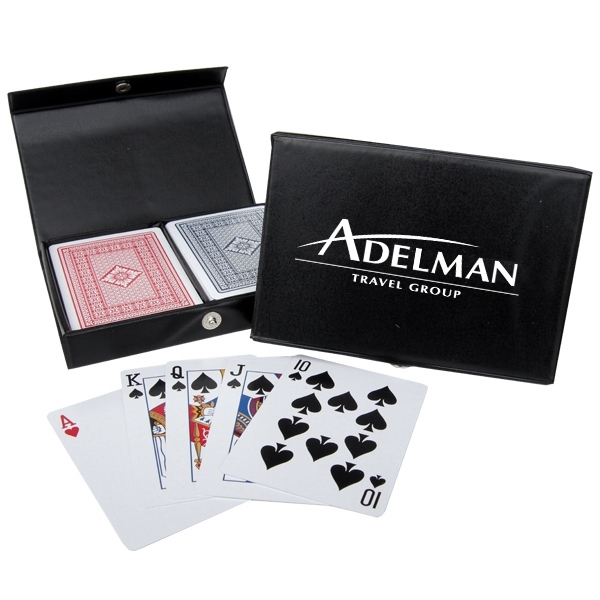 100% Plastic Playing Cards in Imprinted Case