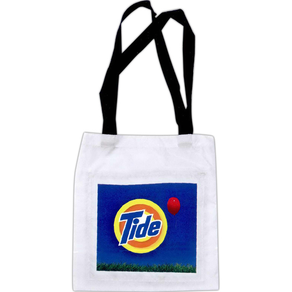 Full color tote bag with front pocket