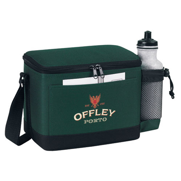 Insulated 6 Pack Cooler With Bottle Holder