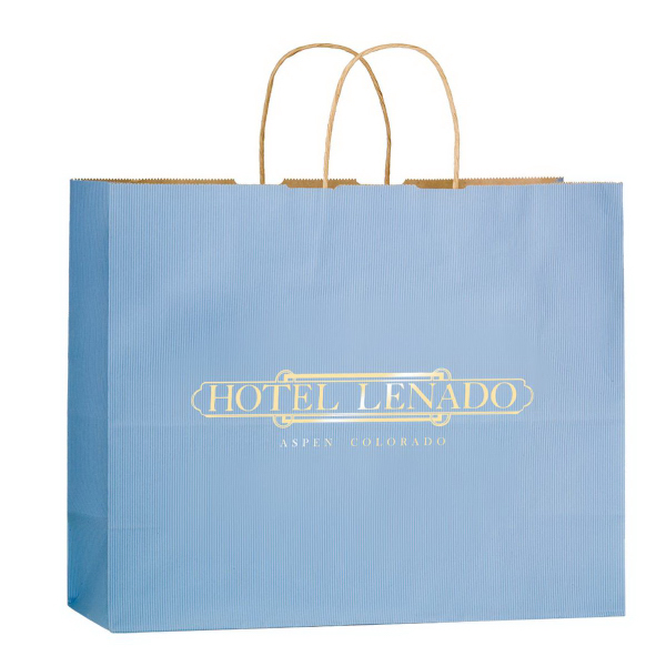 Foil Stamped Matte Colored Shoppers