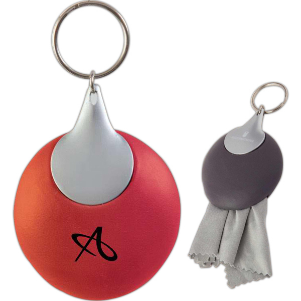 Micro fiber cleaning cloth key chain