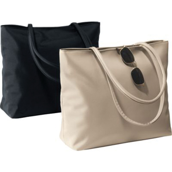 Fashion microfiber tote with magnetic snap