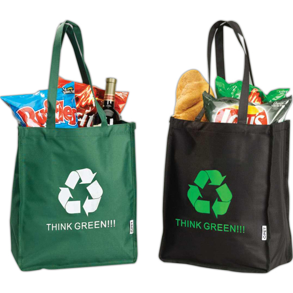 Eco recycled shopping tote