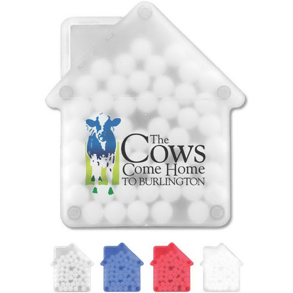 House Shaped Credit Card Mints Goimprints